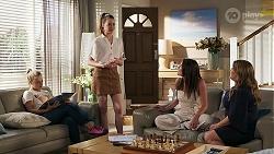 Roxy Willis, Chloe Brennan, Paige Smith, Terese Willis in Neighbours Episode 8305