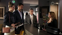 Chloe Brennan, Pierce Greyson, Paul Robinson, Terese Willis in Neighbours Episode 8306
