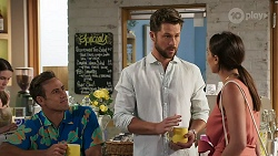 Aaron Brennan, Mark Brennan, Paige Smith in Neighbours Episode 8307