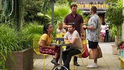 Yashvi Rebecchi, Ned Willis, Shane Rebecchi, Toadie Rebecchi in Neighbours Episode 8307