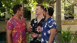 Aaron Brennan, Mick Allsop, David Tanaka in Neighbours Episode 8309