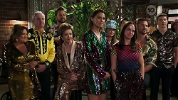 Terese Willis, Karl Kennedy, Mark Brennan, Susan Kennedy, Elly Conway, Chloe Brennan, Bea Nilsson, Pierce Greyson, Hendrix Greyso in Neighbours Episode 8309