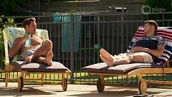 Aaron Brennan, David Tanaka in Neighbours Episode 8312