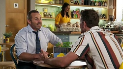 Toadie Rebecchi, Dipi Rebecchi, Kyle Canning in Neighbours Episode 8312