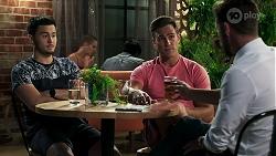 David Tanaka, Aaron Brennan, Pierce Greyson in Neighbours Episode 8312