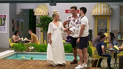 Roxy Willis, Aaron Brennan, David Tanaka in Neighbours Episode 8312