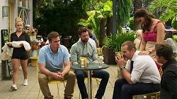 Roxy Willis, Kyle Canning, Mark Brennan, Toadie Rebecchi, Dipi Rebecchi, Shane Rebecchi in Neighbours Episode 8313