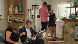 Terese Willis, Paul Robinson, Gary Canning, Harlow Robinson in Neighbours Episode 8313