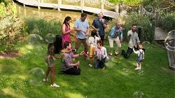 Yashvi Rebecchi, Dipi Rebecchi, Shane Rebecchi, Kyle Canning, Nell Rebecchi, Toadie Rebecchi, Susan Kennedy, Karl Kennedy, Mark Brennan, Hugo Somers in Neighbours Episode 8313
