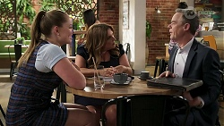 Harlow Robinson, Terese Willis, Paul Robinson in Neighbours Episode 8314