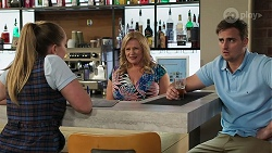 Harlow Robinson, Sheila Canning, Kyle Canning in Neighbours Episode 8314