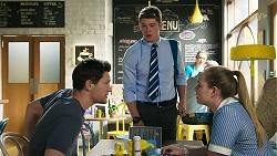 Finn Kelly, Hendrix Greyson, Harlow Robinson in Neighbours Episode 8315