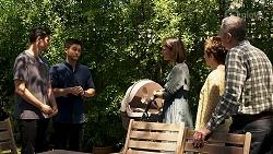 Finn Kelly, David Tanaka, Elly Conway, Susan Kennedy, Karl Kennedy in Neighbours Episode 8316