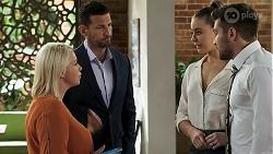 Lucy Robinson, Pierce Greyson, Chloe Brennan, Ned Willis in Neighbours Episode 8316