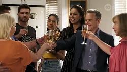 Lucy Robinson, Mark Gottlieb, Ned Willis, Yashvi Rebecchi, Dipi Rebecchi, Paul Robinson, Jane Harris in Neighbours Episode 8317