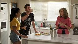 Yashvi Rebecchi, Ned Willis, Jane Harris in Neighbours Episode 8317