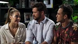 Chloe Brennan, Mark Brennan, Aaron Brennan in Neighbours Episode 8318