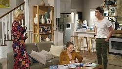 Prue Wallace, Harlow Robinson, Hendrix Greyson in Neighbours Episode 8318