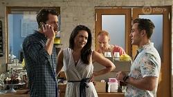 Mark Brennan, Paige Smith, Aaron Brennan in Neighbours Episode 8319