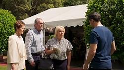 Susan Kennedy, Karl Kennedy, Lucy Robinson, Finn Kelly in Neighbours Episode 8320