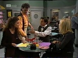 Gaby Willis, Dave Gottlieb, Rick Alessi, Annalise Hartman in Neighbours Episode 2182