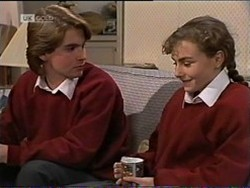 Brett Stark, Debbie Martin in Neighbours Episode 2182