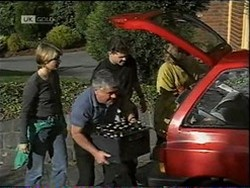 Danni Stark, Lou Carpenter, Michael Martin, Danni Stark in Neighbours Episode 2185