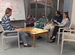 Rita Toulis, Debbie Martin, Hannah Martin, Philip Martin, Julie Martin in Neighbours Episode 2205
