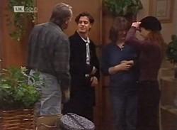 Doug Willis, Rick Alessi, Pam Willis, Cody Willis in Neighbours Episode 2205