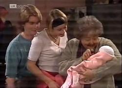 Brett Stark, Danni Stark, Marlene Kratz, Louise Carpenter (Lolly) in Neighbours Episode 2206