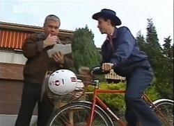 Lou Carpenter, Postman in Neighbours Episode 2206