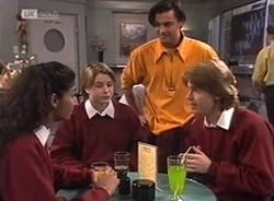 Lata Chatterji, Danni Stark, Rick Alessi, Brett Stark in Neighbours Episode 2208