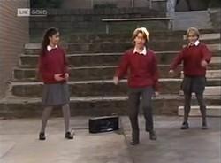 Lata Chatterji, Brett Stark, Danni Stark in Neighbours Episode 2209