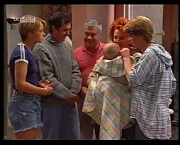 Danni Stark, Karl Kennedy, Lou Carpenter, Louise Carpenter (Lolly), Cheryl Stark, Brett Stark in Neighbours Episode 2360