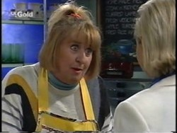 Angie Rebecchi, Joanna Hartman in Neighbours Episode 2665