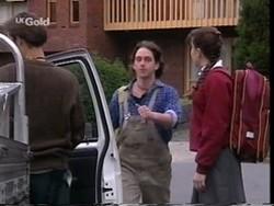 Malcolm Kennedy, Darren Stark, Libby Kennedy in Neighbours Episode 2666
