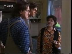 Darren Stark, Malcolm Kennedy, Mrs. Kotsonis in Neighbours Episode 2666