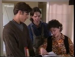 Malcolm Kennedy, Darren Stark, Mrs. Kotsonis in Neighbours Episode 2666