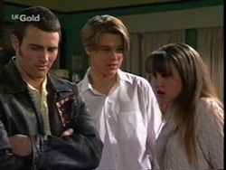 Stonie Rebecchi, Billy Kennedy, Libby Kennedy in Neighbours Episode 2668