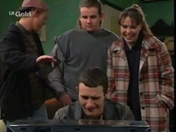Billy Kennedy, Toadie Rebecchi, Stonie Rebecchi, Libby Kennedy in Neighbours Episode 2668