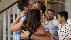 Mark Brennan, Paige Smith, Aaron Brennan, Ned Willis, David Tanaka in Neighbours Episode 8321