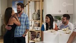 Paige Smith, Mark Brennan, Yashvi Rebecchi, Ned Willis in Neighbours Episode 8321