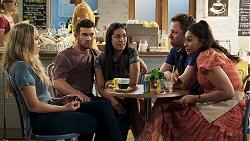 Sky Mangel, Ned Willis, Yashvi Rebecchi, Shane Rebecchi, Dipi Rebecchi in Neighbours Episode 8321