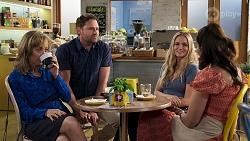 Jane Harris, Shane Rebecchi, Sky Mangel, Dipi Rebecchi in Neighbours Episode 8321