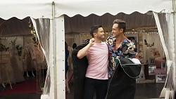David Tanaka, Aaron Brennan in Neighbours Episode 8322