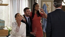 Paige Smith, Ned Willis, Yashvi Rebecchi, Paul Robinson in Neighbours Episode 8322