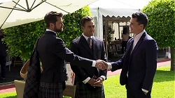 Mark Brennan, Aaron Brennan, Jack Callahan in Neighbours Episode 8322