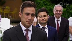 Aaron Brennan, David Tanaka, Karl Kennedy in Neighbours Episode 8322