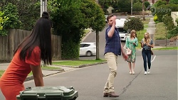 Yashvi Rebecchi, Shane Rebecchi, Lana Crawford, Sky Mangel in Neighbours Episode 8322