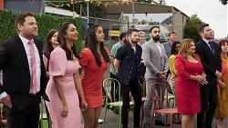 Shane Rebecchi, Dipi Rebecchi, Yashvi Rebecchi, Dylan Timmins, Terese Willis, Ned Willis in Neighbours Episode 8323